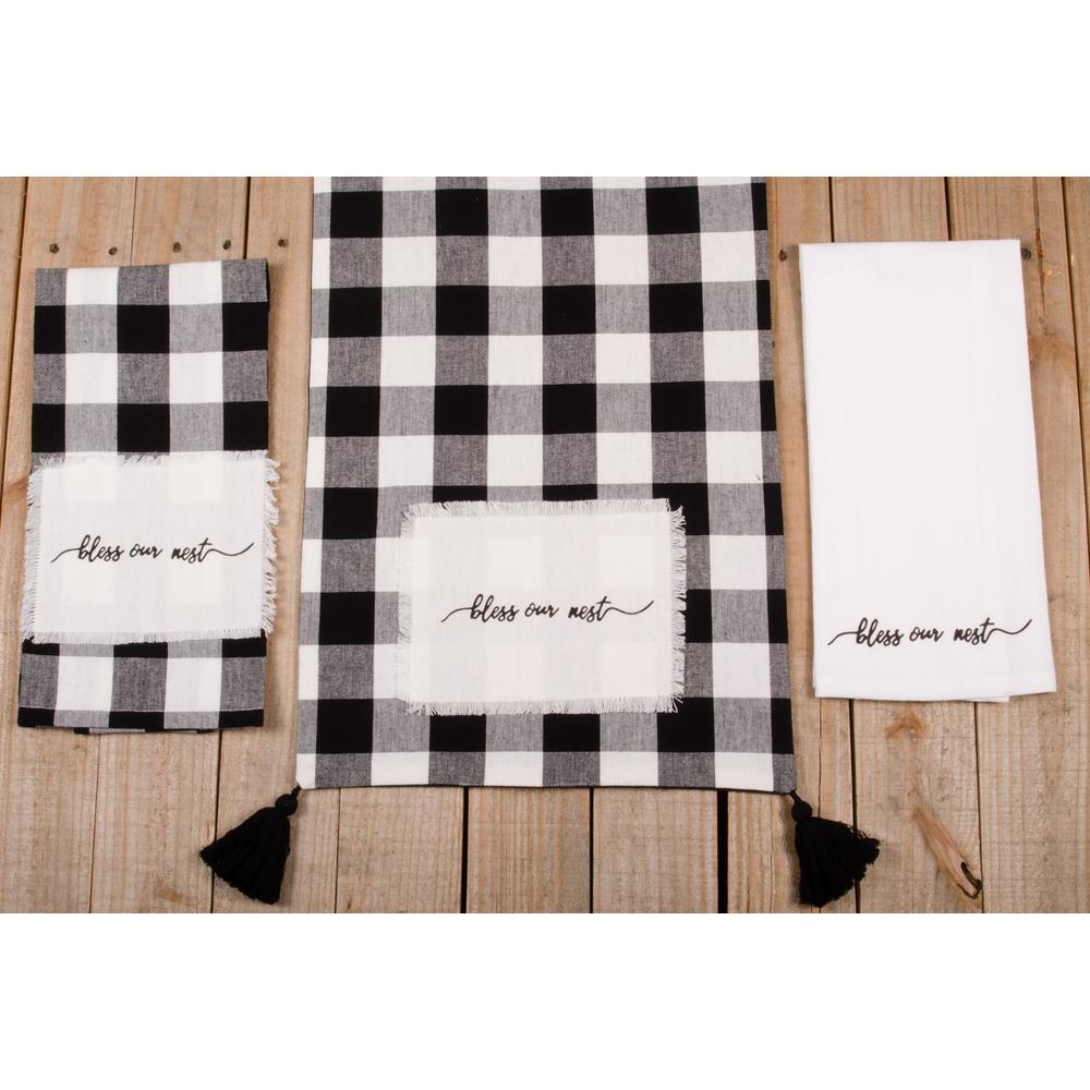 "Buffalo Check Bless Our Nest 54"" Table Runner - Interiors by Elizabeth"