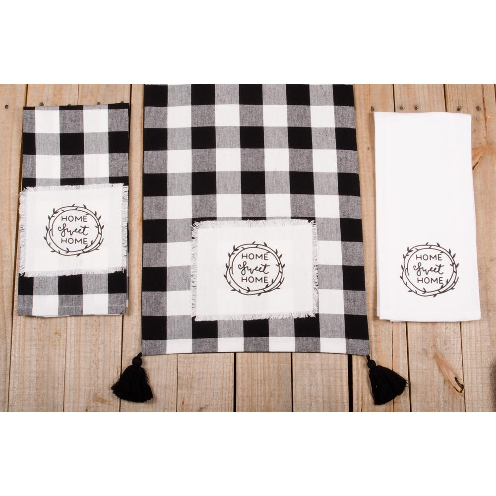 "Buffalo Check Home Sweet Home 54"" Table Runner - Interiors by Elizabeth"