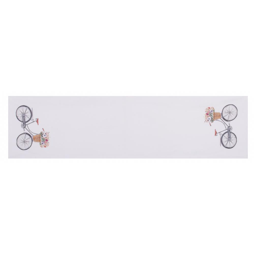 "Bicycle 14"" x 54"" White - Interiors by Elizabeth"