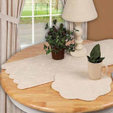 Cream Candlewicking Cream Table Runner - Interiors by Elizabeth