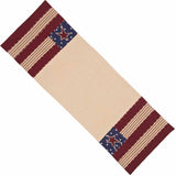 Nutmeg - Indigo - Barn Red Stars and Stripes Table Runner - Interiors by Elizabeth