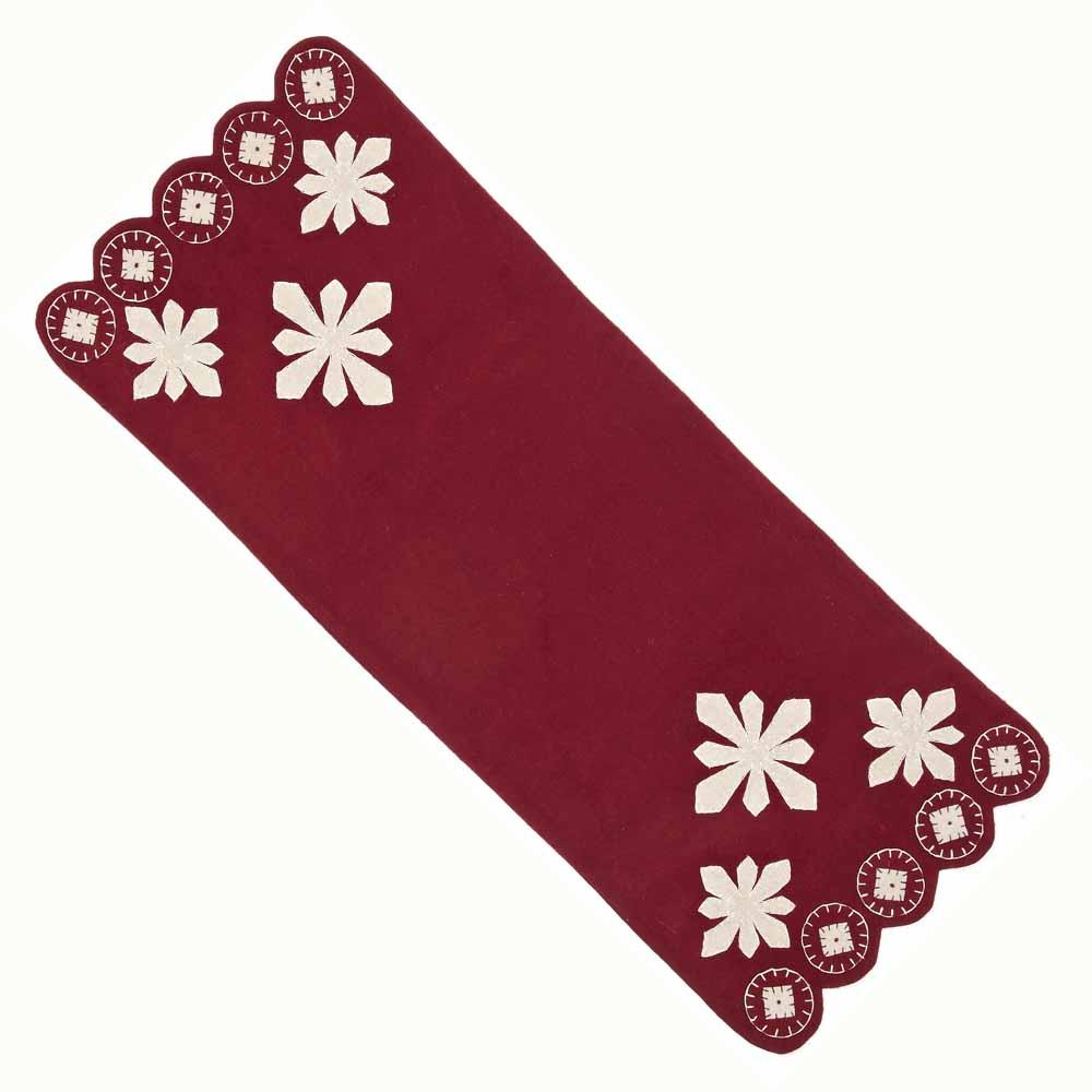 Snowflakes Table Runner - Interiors by Elizabeth