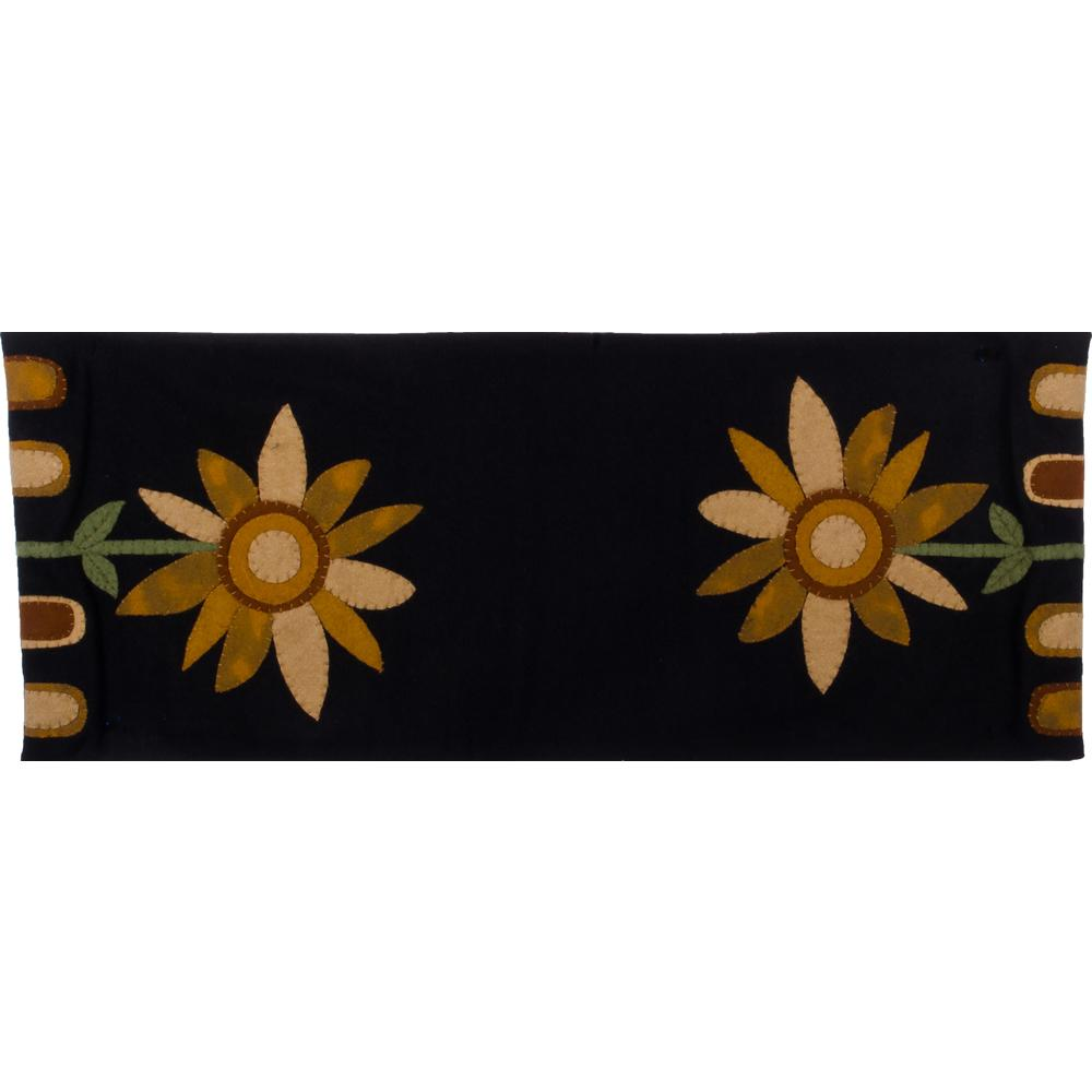 Sunflower Power Table Runner Black - Interiors by Elizabeth