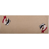 Happy Snowman Table Runner Nutmeg - Interiors by Elizabeth