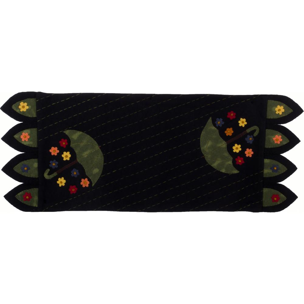 April Showers Table Runner Black - Interiors by Elizabeth
