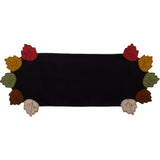 Autumn Leaves Table Runner Black