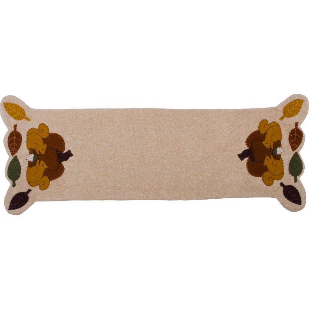Squirrelly Table Runner Nutmeg - Interiors by Elizabeth