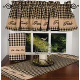 Black-Nutmeg Faith-Family-Friends Table Runner - Interiors by Elizabeth