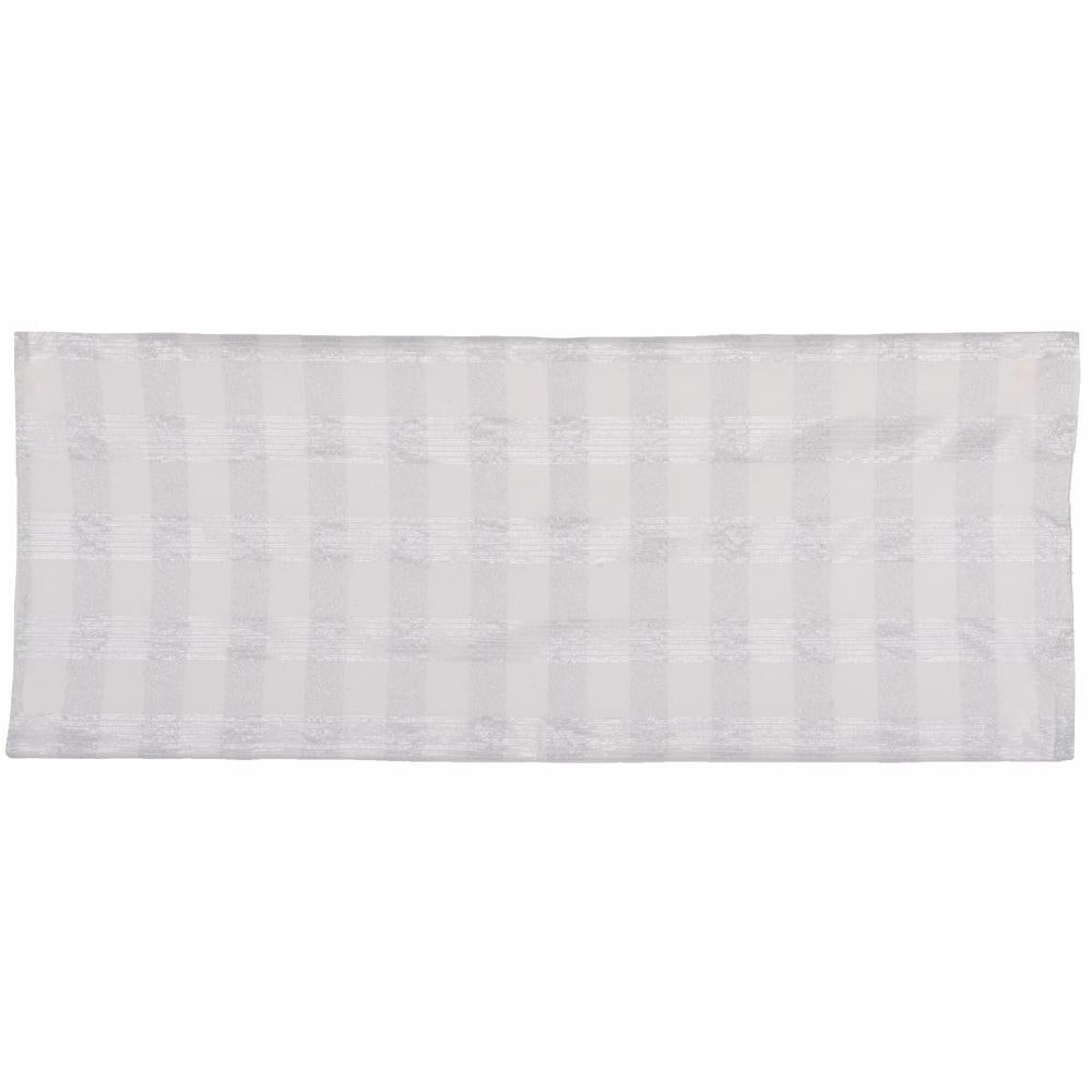 "Tinsel Tartan 14"" x 36"" Cream - Silver - Interiors by Elizabeth"