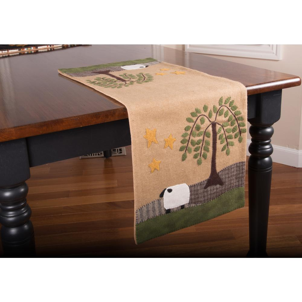 Sheep Willow  Table Runner-  Interiors by Elizabeth