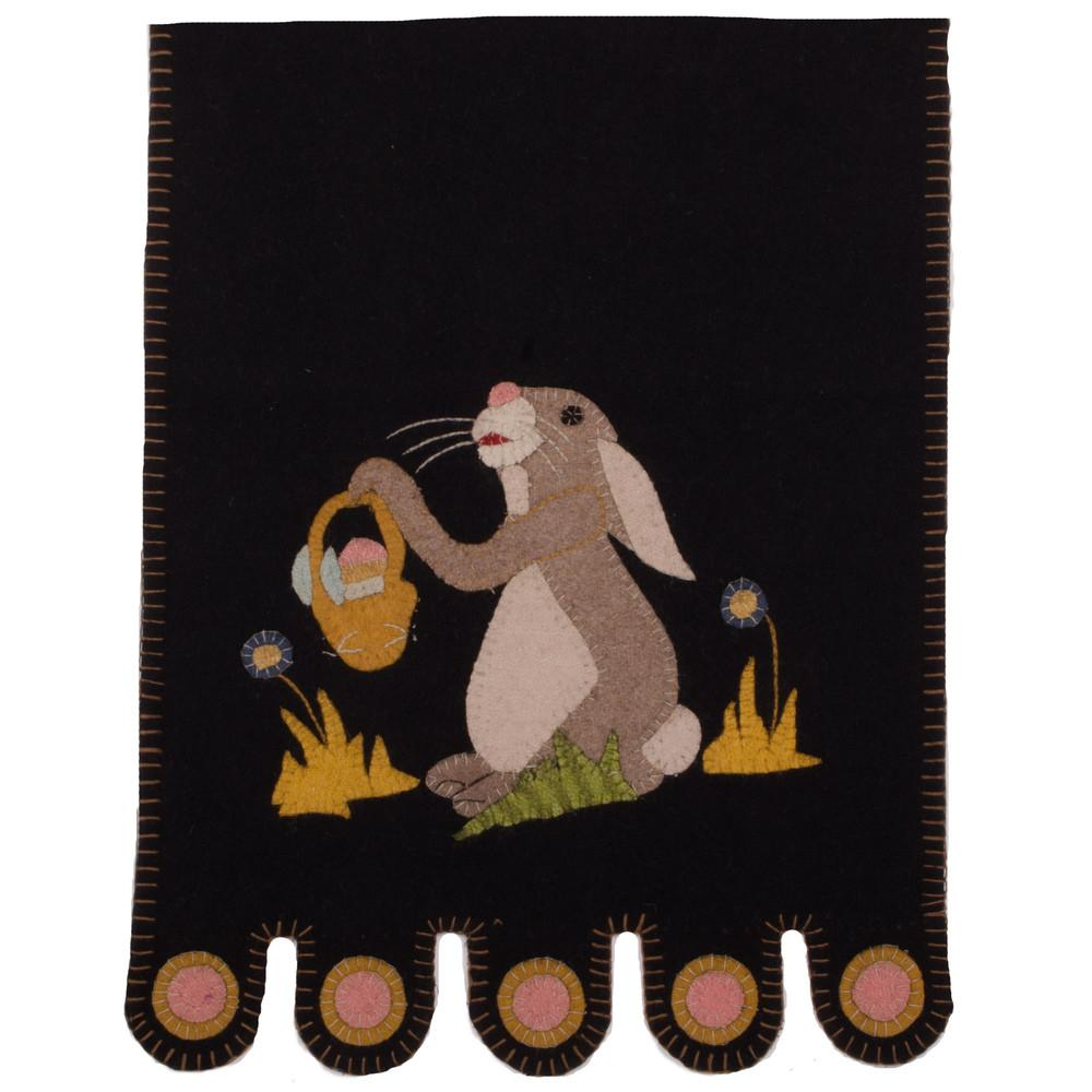 Black Bunny and a Basket Table Runner - Interiors by Elizabeth