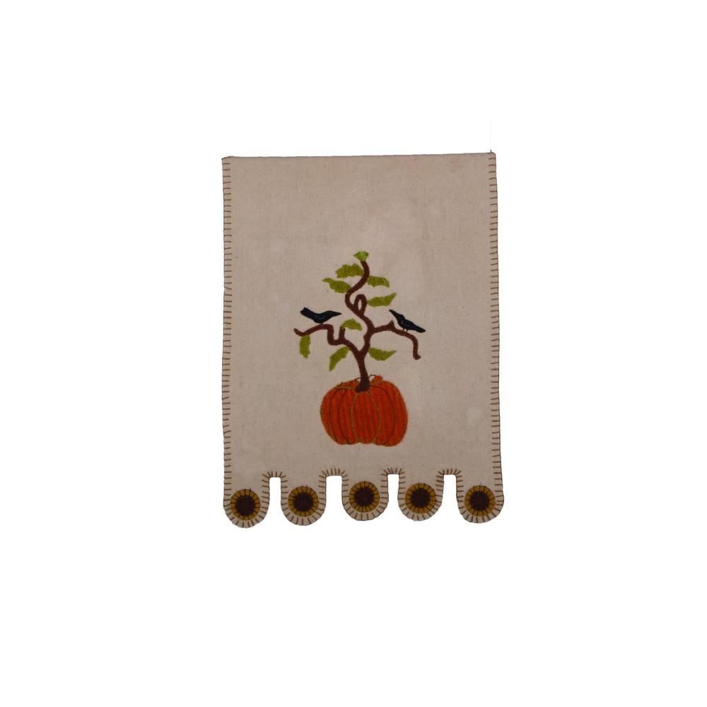 All American Pumpkin Table Runner Cream - Interiors by Elizabeth
