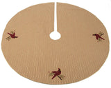 Cardinal Christmas Tree Skirt - Interiors by Elizabeth