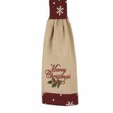 Merry Christmas Tab Towel - Set of Two