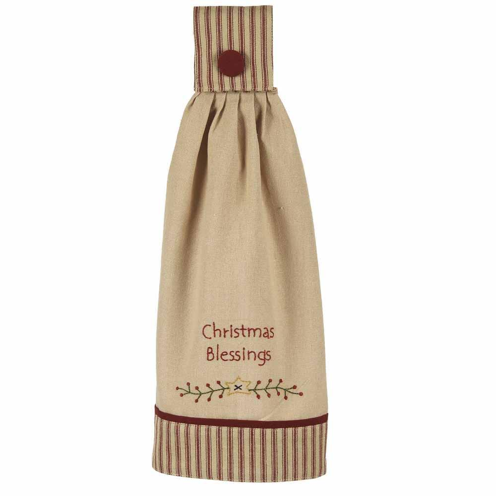 Christmas Blessings Tab Towel - Set of Two - Interiors by Elizabeth