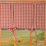 "Heritage House Check 36"" x 36"" Barn Red - Nutmeg - Interiors by Elizabeth"