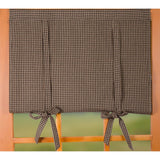 "Newbury Gingham 36"" x 36"" Black - Oat - Interiors by Elizabeth"
