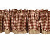 Barn Red-Nutmeg Heritage House Check Barn Red Fairfield Valance - Lined