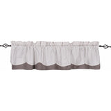 Ticking Fairfield Valance Cream - Grey - Lined - Interiors by Elizabeth
