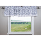 White-Navy Paisley Fairfield Valance - Lined - Interiors by Elizabeth