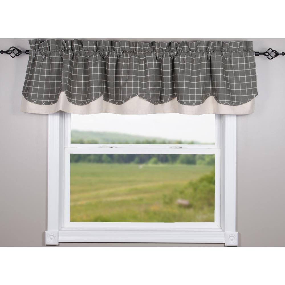 Pewter Summerville Fairfield Valance - Lined - Interiors by Elizabeth