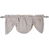 Timeless Quatrefoil Gathered Valance Cream - Black - Lined - Interiors by Elizabeth