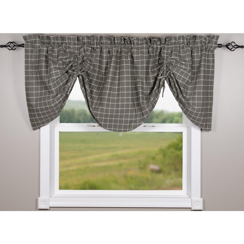 Pewter Summerville Gathered Valance - Lined - Interiors by Elizabeth