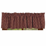 Barn Red-Tan Marshfield Jacquard Valance - Lined