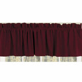Barn Red Farm House Solid Valance - Lined - Interiors by Elizabeth