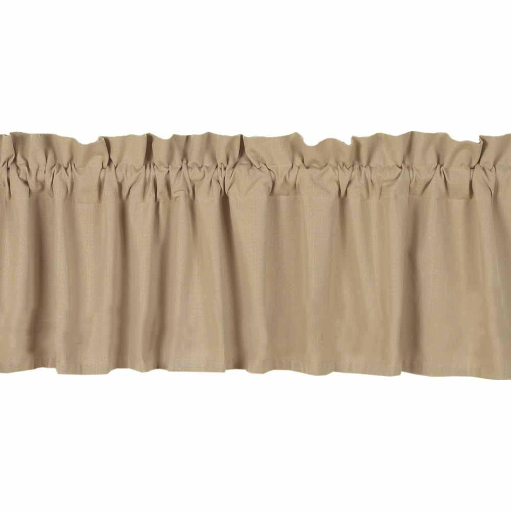 Nutmeg Farm House Solid Valance - Lined - Interiors by Elizabeth