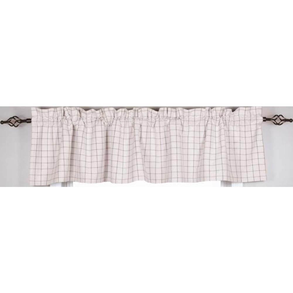 Pewter-Cream Summerville Valance - Lined - Interiors by Elizabeth