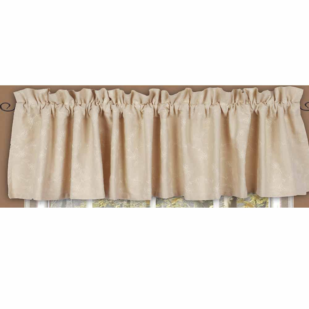 Cream Candlewicking Cream Valance - Lined - Interiors by Elizabeth
