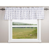 Anchors Away White-Navy Valance - Lined