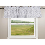 Paisley White-Navy Valance - Lined - Interiors by Elizabeth