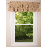 Meadowpark valance unlined triple ruffle-  Interiors by Elizabeth