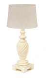 Buttermilk Stockton Accent Lamp Wood Lamp - Interiors by Elizabeth