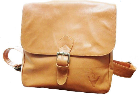 Bird on the Buffalo Leather Satchel Backpack