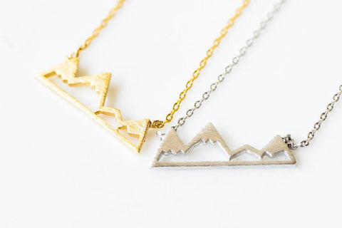 Dainty Snowy Mountain Necklace