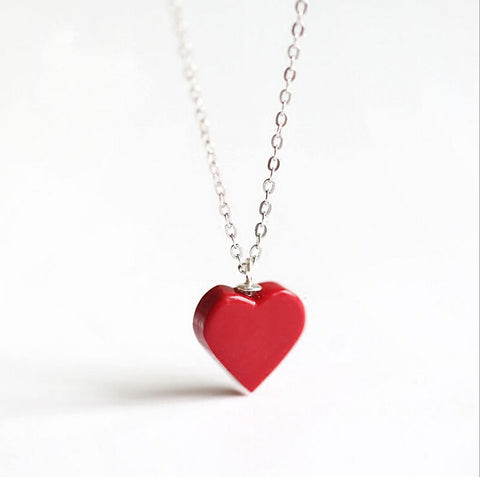 Heart as a red apple Necklace