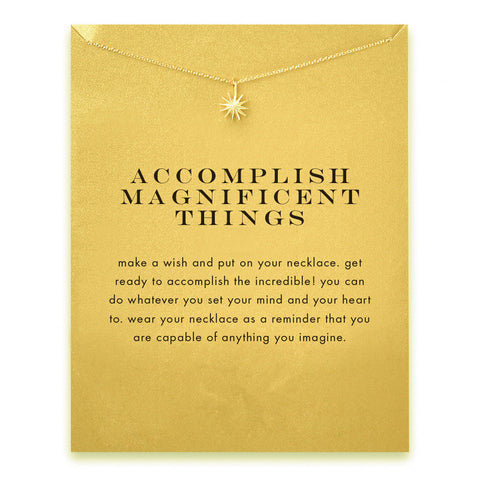 Accomplish Magnificent Things Necklace - Lovestruck - 1