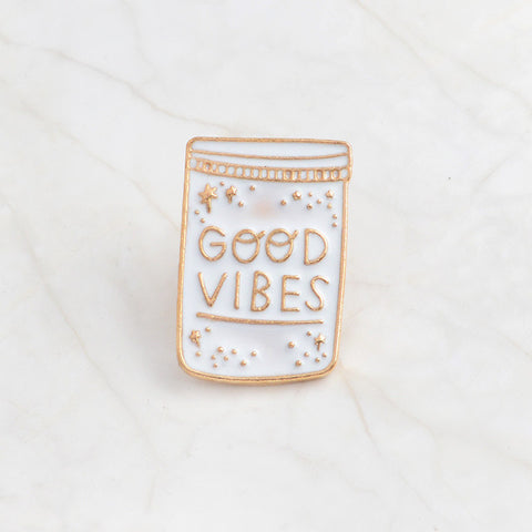 Good Vibes Only Pin - Lovestruck