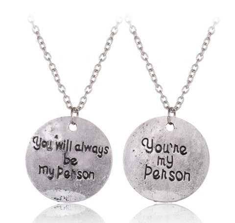 You're My Person Friendship Necklace