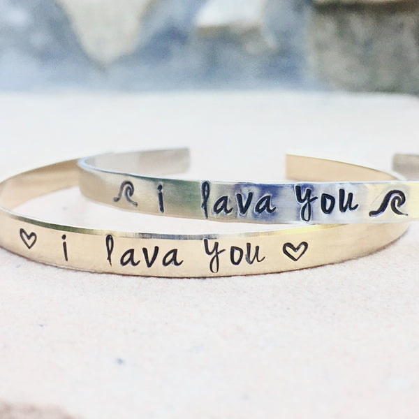 I Lava You Bracelet, I Lava You - Natashaaloha, jewelry, bracelets, necklace, keychains, fishing lures, gifts for men, charms, personalized,