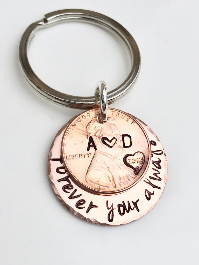 Forever Your Always Penny Keychain