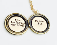 She Believed She Could So She Did Locket - Natashaaloha, jewelry, bracelets, necklace, keychains, fishing lures, gifts for men, charms, personalized,