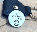 One Day At  Time, I Believe In You, Recovery Gift, Sobriety Gift - Natashaaloha, jewelry, bracelets, necklace, keychains, fishing lures, gifts for men, charms, personalized,