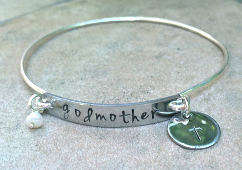 Godmother Bracelet, Godmother Gifts, Baptism Gifts, Personalized Godmother Jewlelry, natashaaloha - Natashaaloha, jewelry, bracelets, necklace, keychains, fishing lures, gifts for men, charms, personalized,