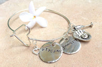 Mother Bangle, Personalized Bangle Bracelet,Personalized Family Bangle, Hand Stamped Custom Bangle - Natashaaloha, jewelry, bracelets, necklace, keychains, fishing lures, gifts for men, charms, personalized,