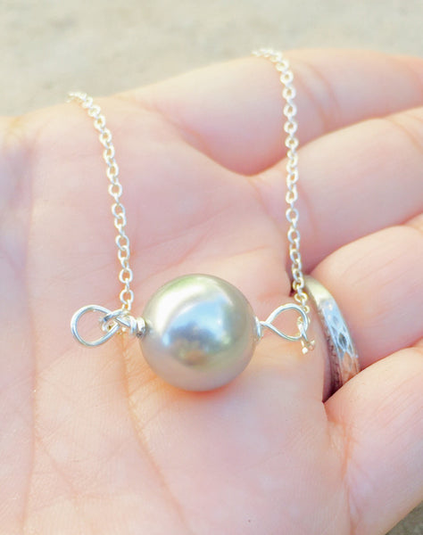 Floating Pearl Necklace, Pearl Necklace , Classic Pearl Necklace, Urban Pearl, Hawaiian Jewelry, natashaaloha - Natashaaloha, jewelry, bracelets, necklace, keychains, fishing lures, gifts for men, charms, personalized,