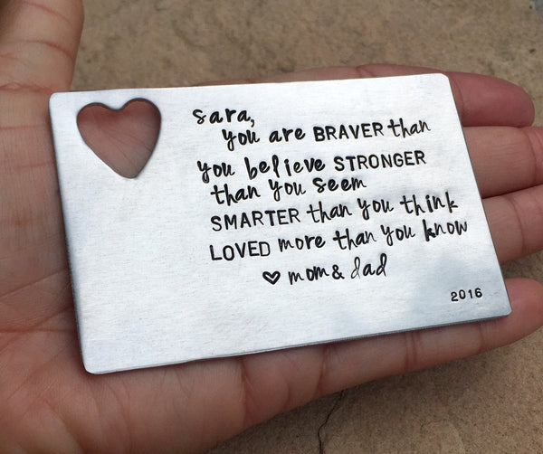 Graduation Gift Wallet Insert, Inspirational Gifts, Boyfriend Gift, Wallet Insert, High School Graduation , College Graduates - Natashaaloha, jewelry, bracelets, necklace, keychains, fishing lures, gifts for men, charms, personalized,